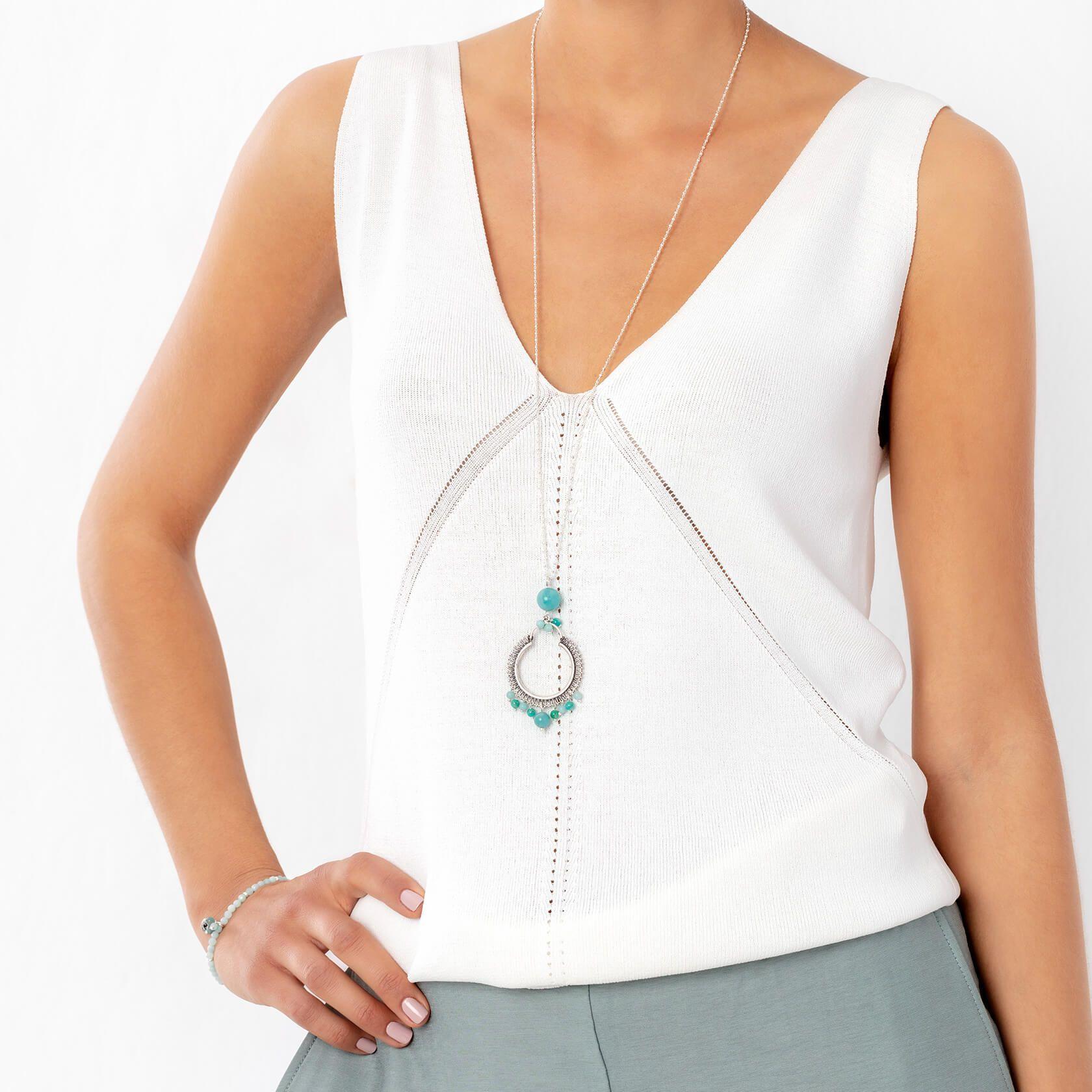 Amazonite Cora long necklace