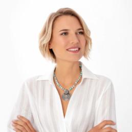 Solar mandala amazonite necklace | Marybola
