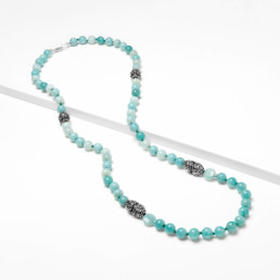 Amazonite cora long necklace | Marybola