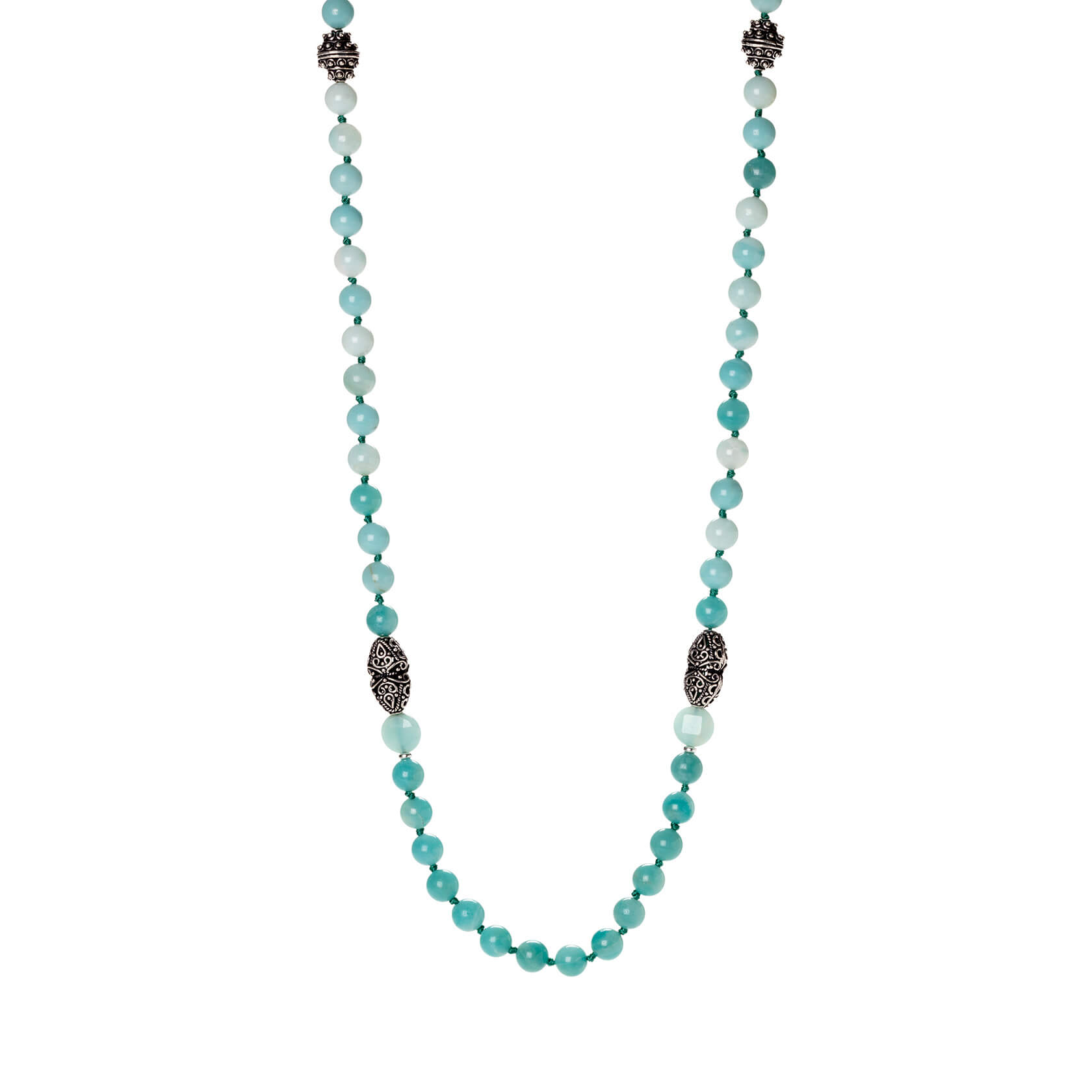 Amazonite cora long necklace