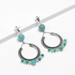 Hoop amazonite cora earrings