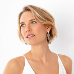 Cora earrings with amazonite