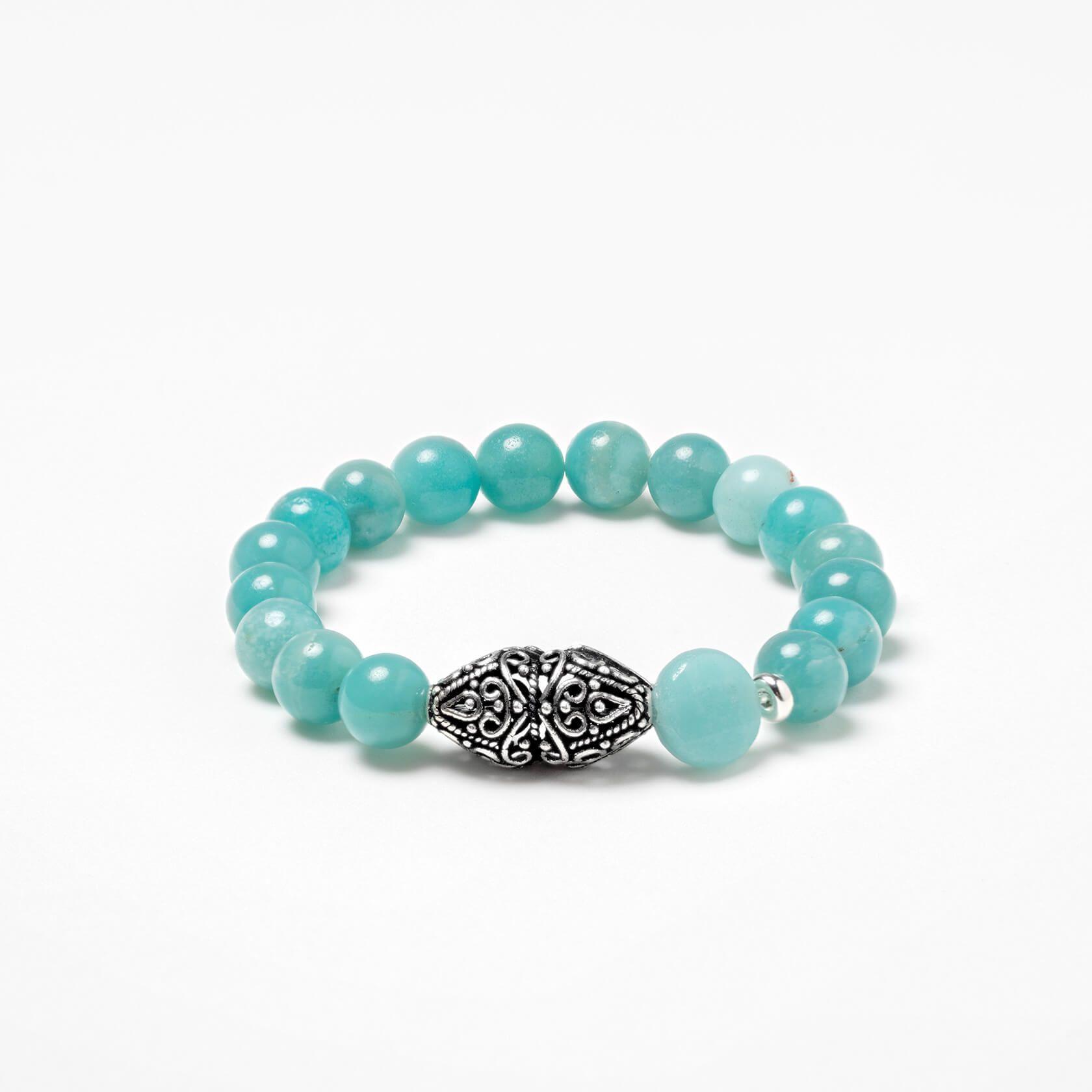 Amazonite beats bracelet