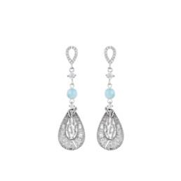 aquamarine and zirconias earrings marybola