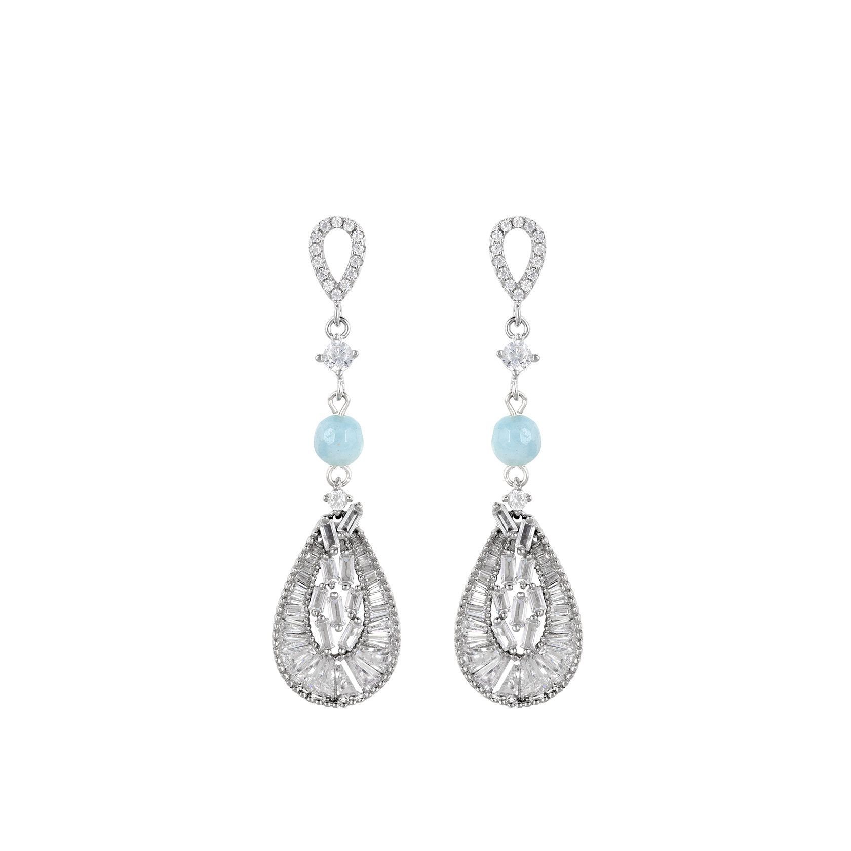 aquamarine and zirconias earrings marybola