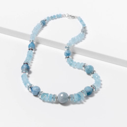 marybola aquamarine short necklace