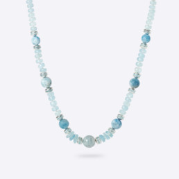 aquamarine short necklace