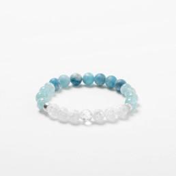 quartz and aquamarine bracelet