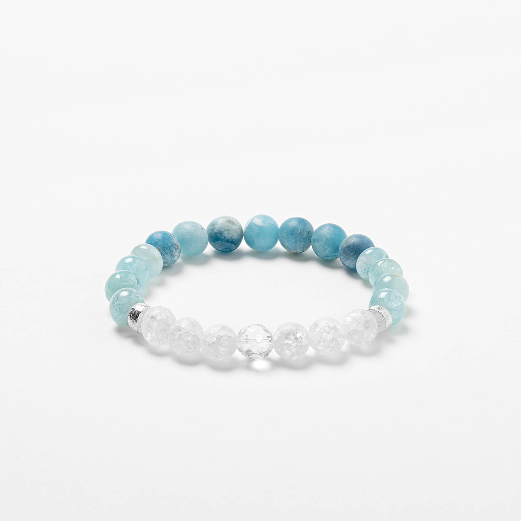 quartz and aquamarine bracelet