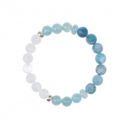 aquamarine and quartz bracelet
