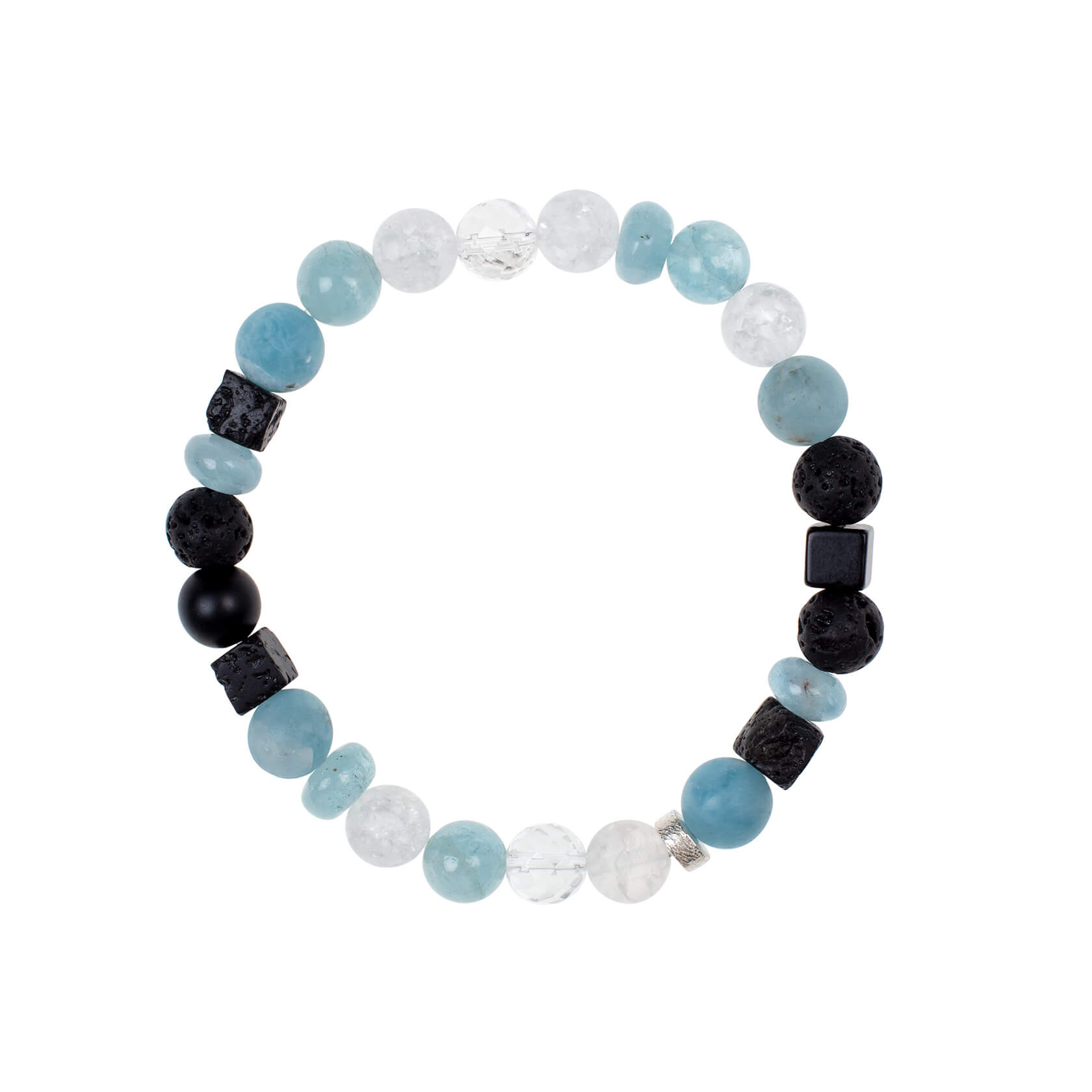 Aquamarine unisex bracelet