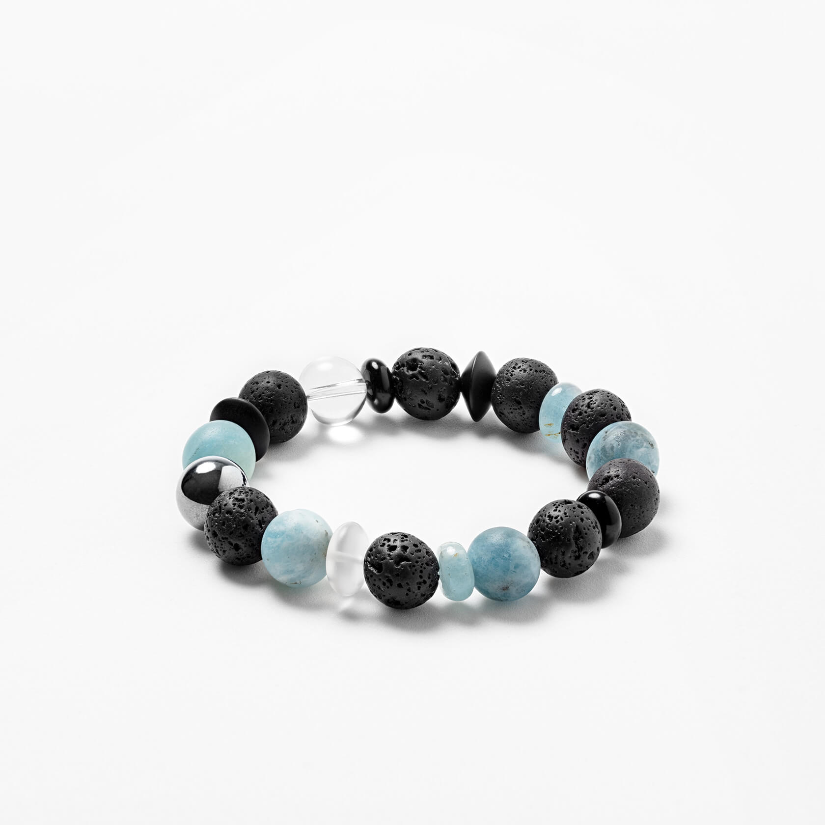 lava and aquamarine unisex bracelet