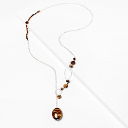 tiger-eye-necklace-with-silver-hoops