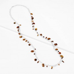 tiger-eye-silver-chain-long-necklace