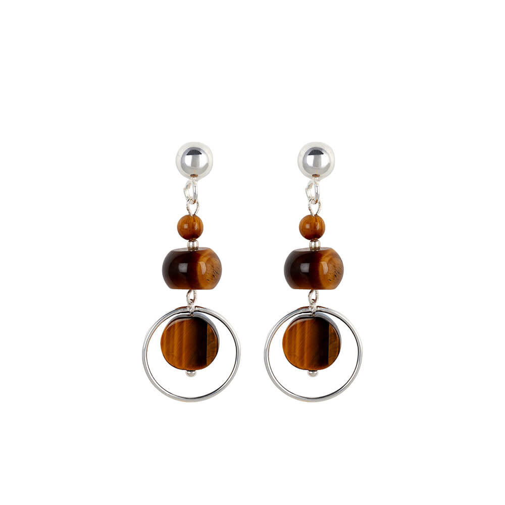Tiger-eye-hoop-earrings