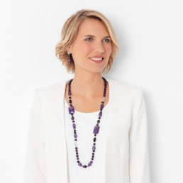Amethyst necklace marybola