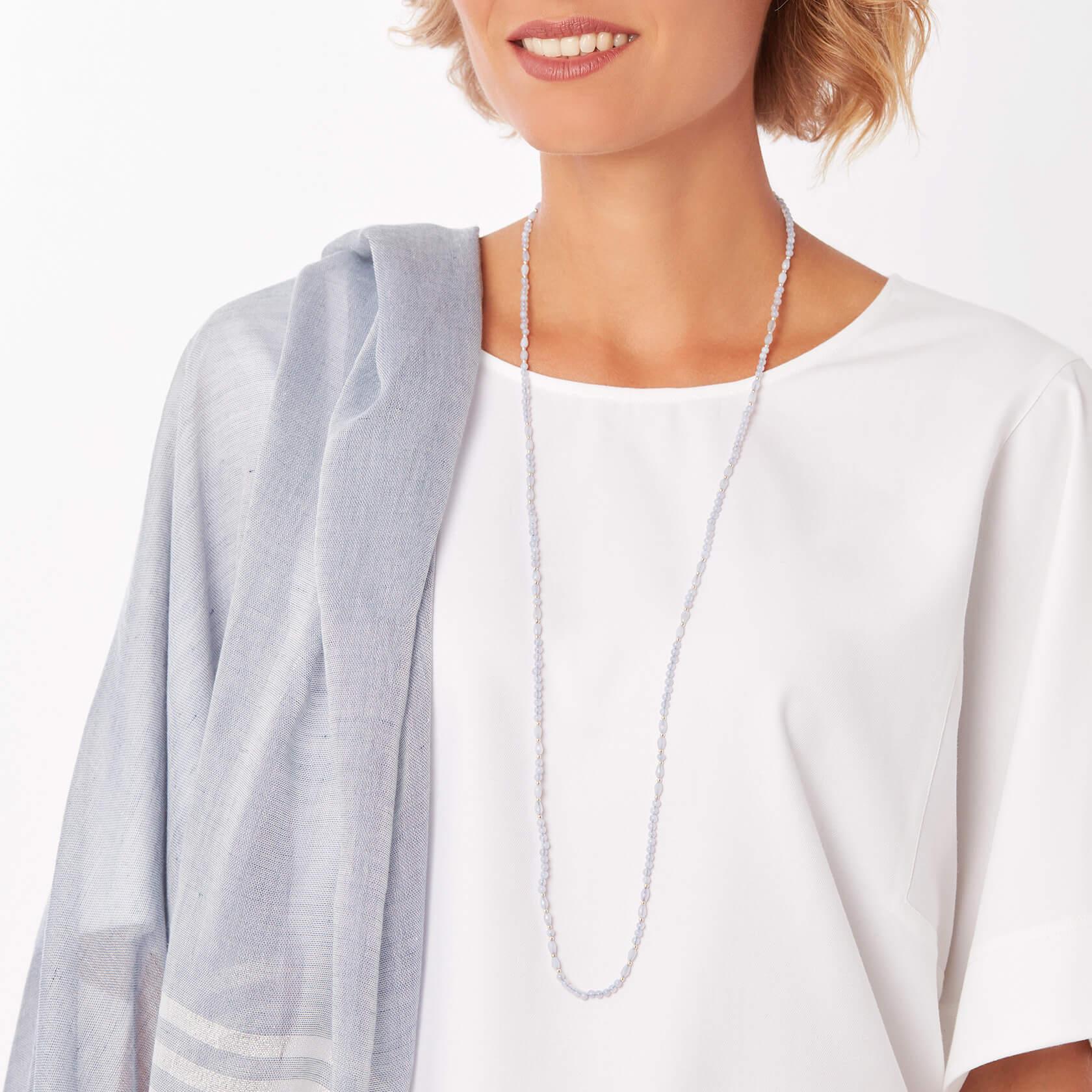 Neptuno Chalcedony long necklace