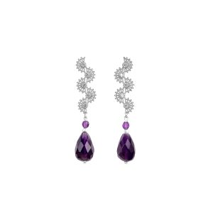 Long amethyst earrings