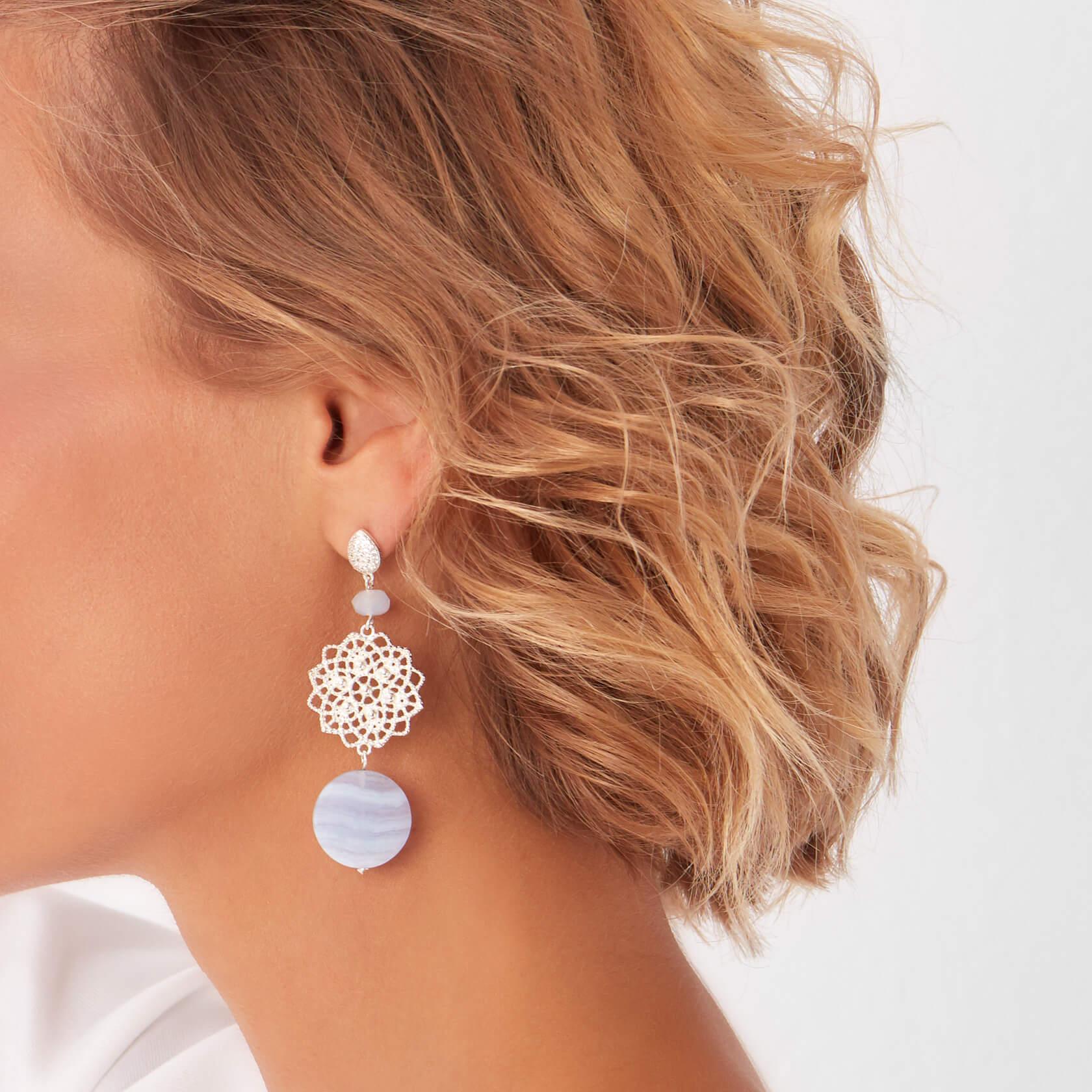 Neptuno chalcedony Earrings Marybola
