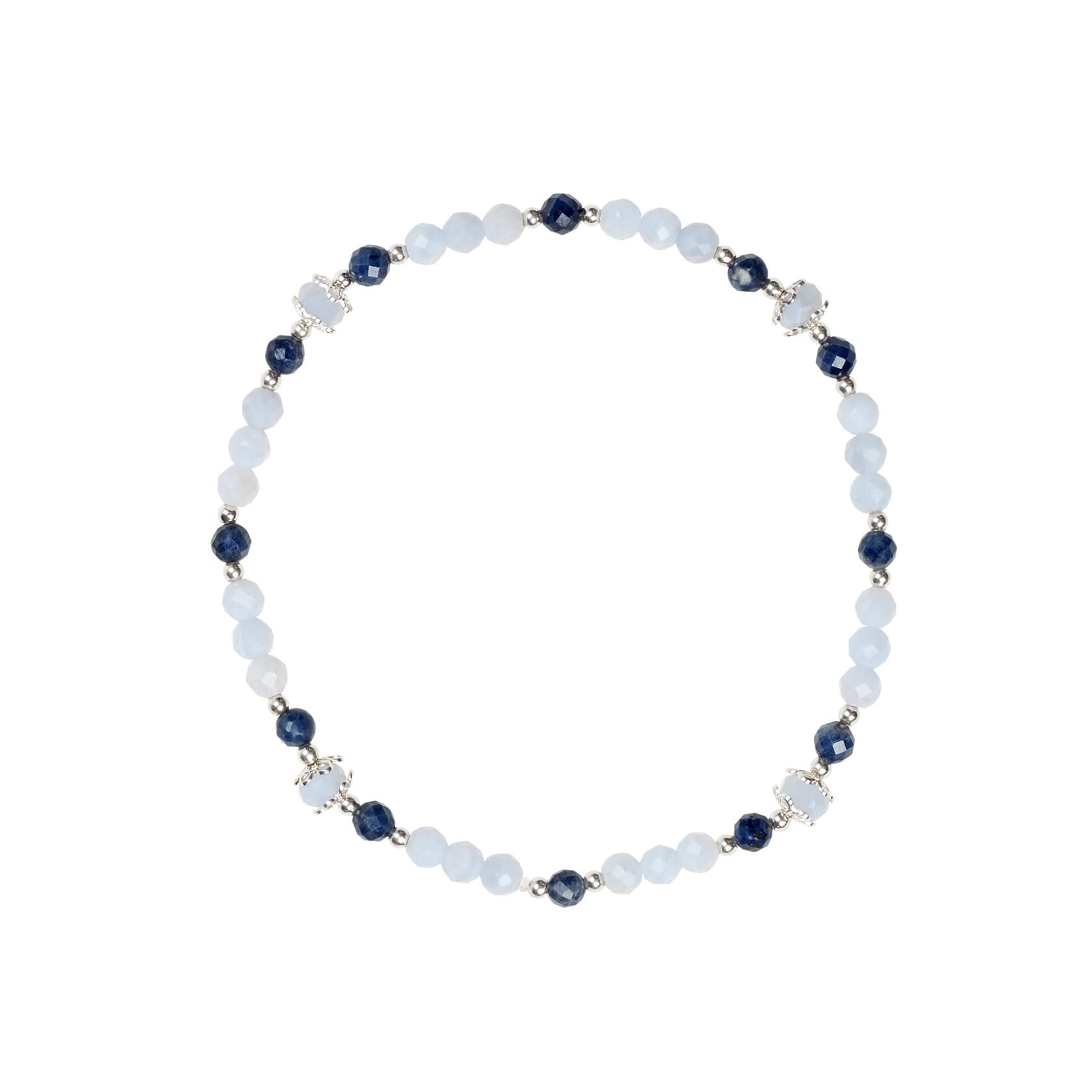 Chalcedony and Sapphire Bracelet