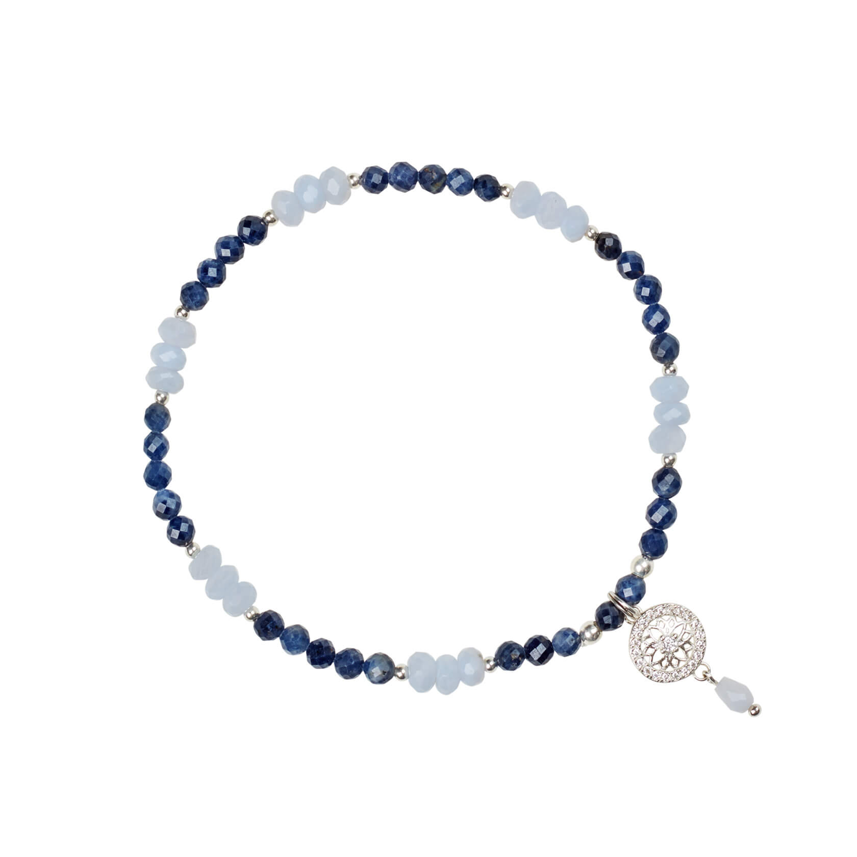 Sapphire and Chalcedony Bracelet