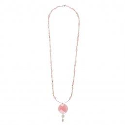 Rose quartz long necklace marybola
