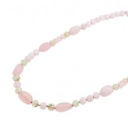 rose quartz shot necklace marybola