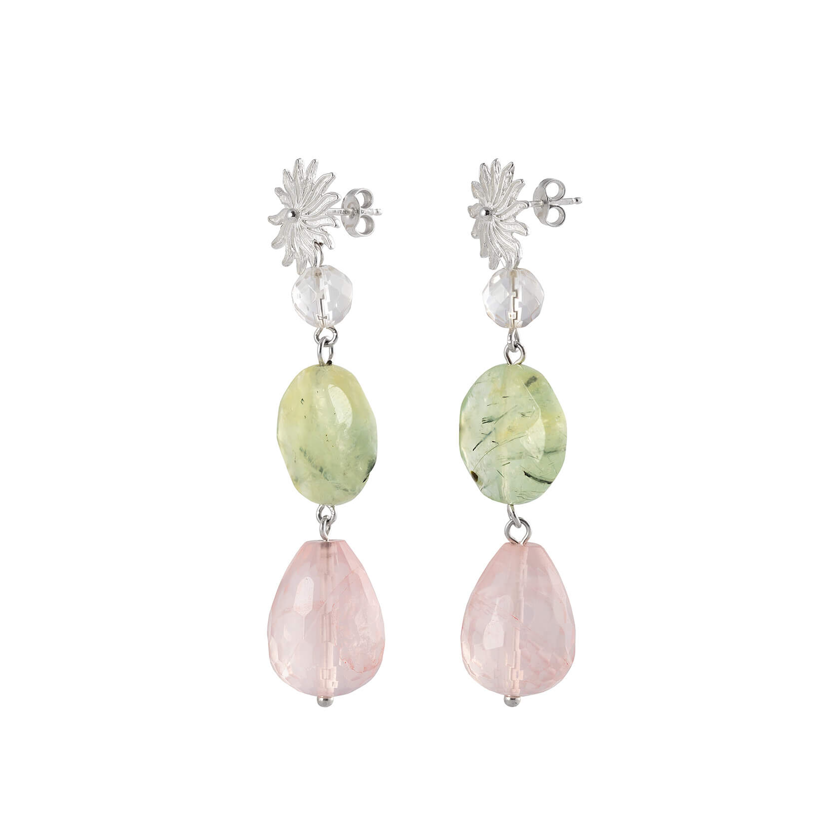 marybola rose quartz earrings