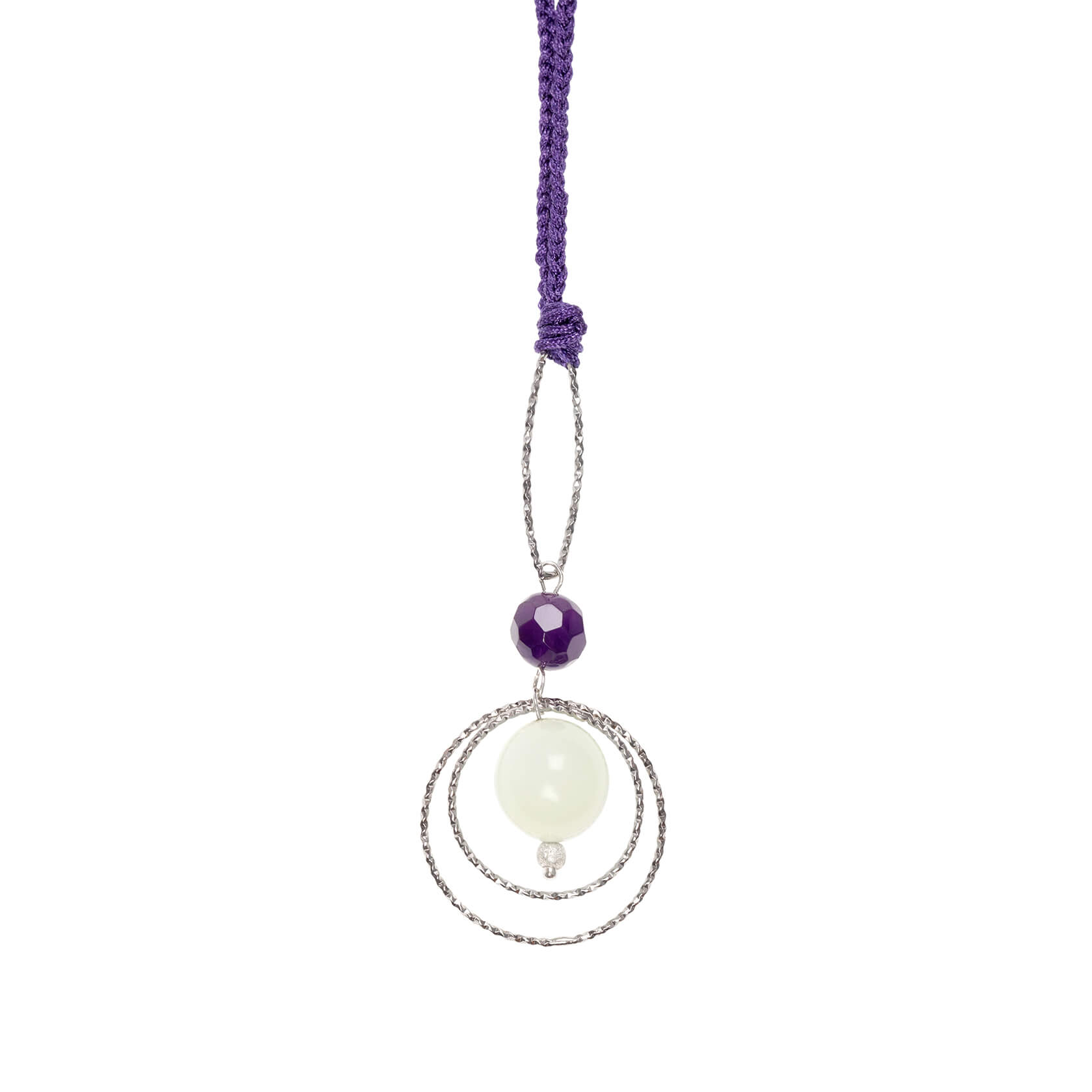 Jade and amethyst pendant