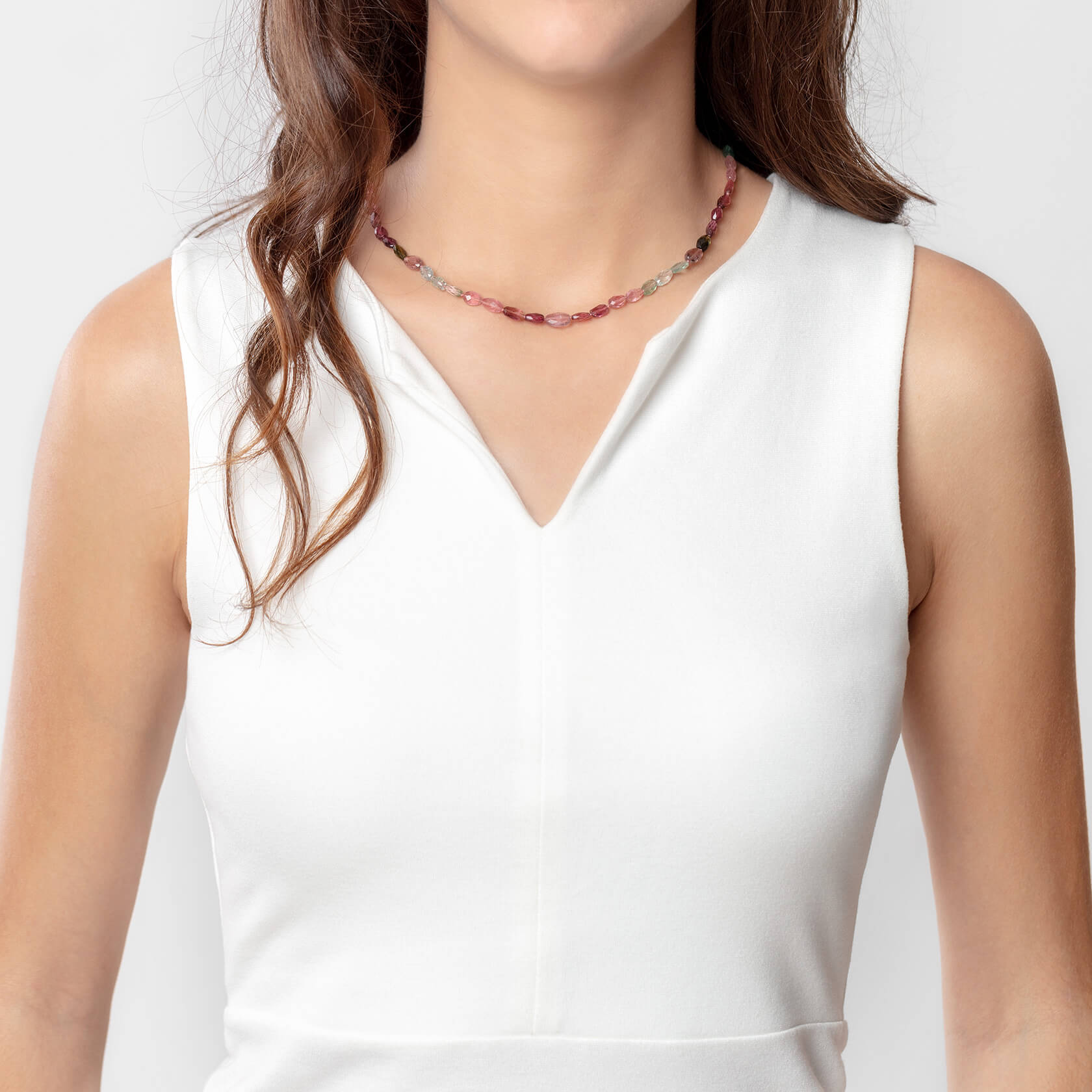 Rose tourmaline esenciales necklace