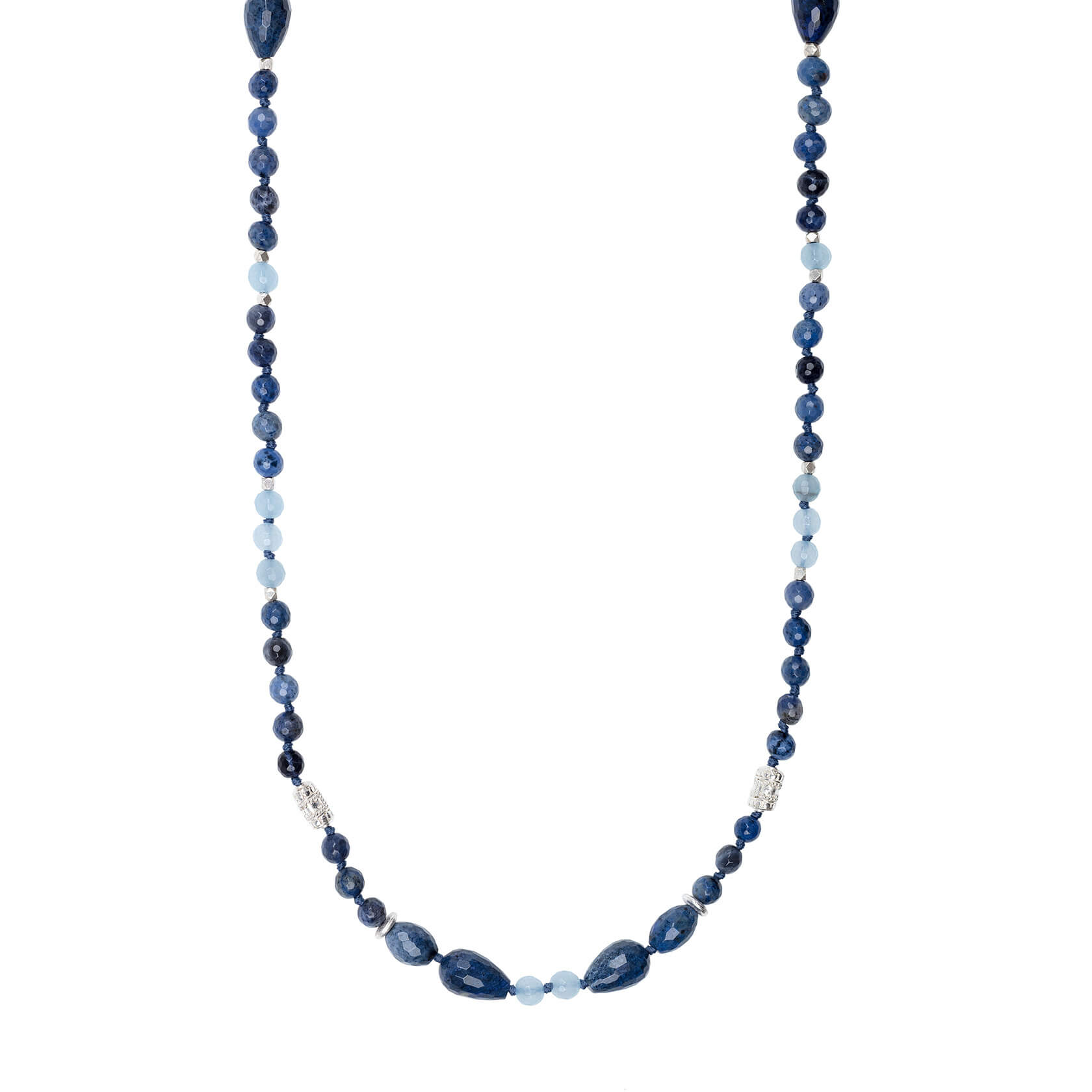 Sodalite long necklace