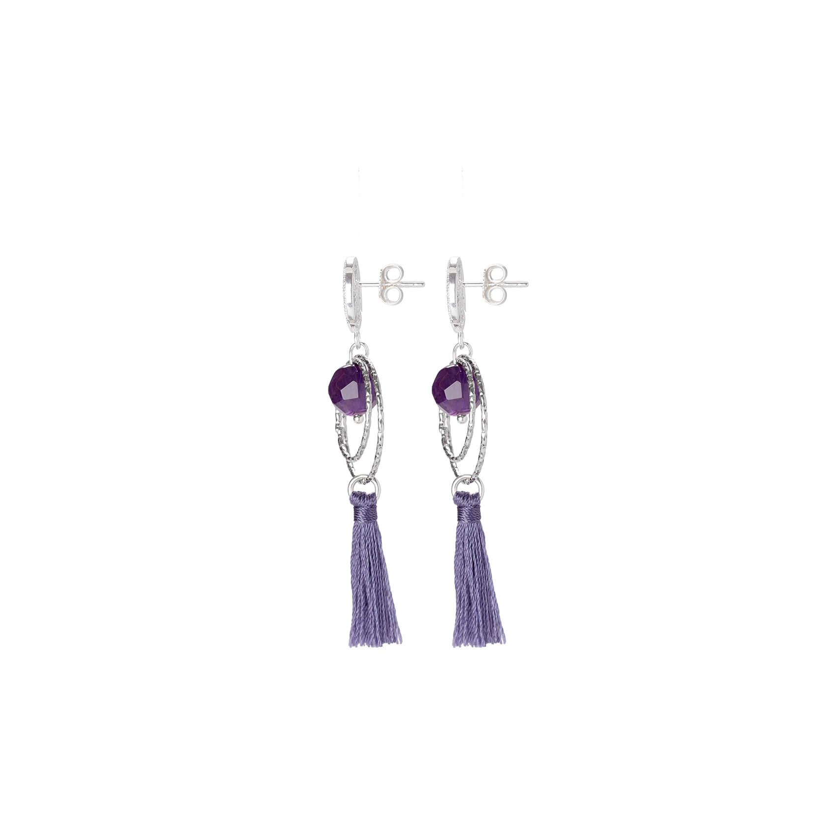 Esenciales amethyst earrings