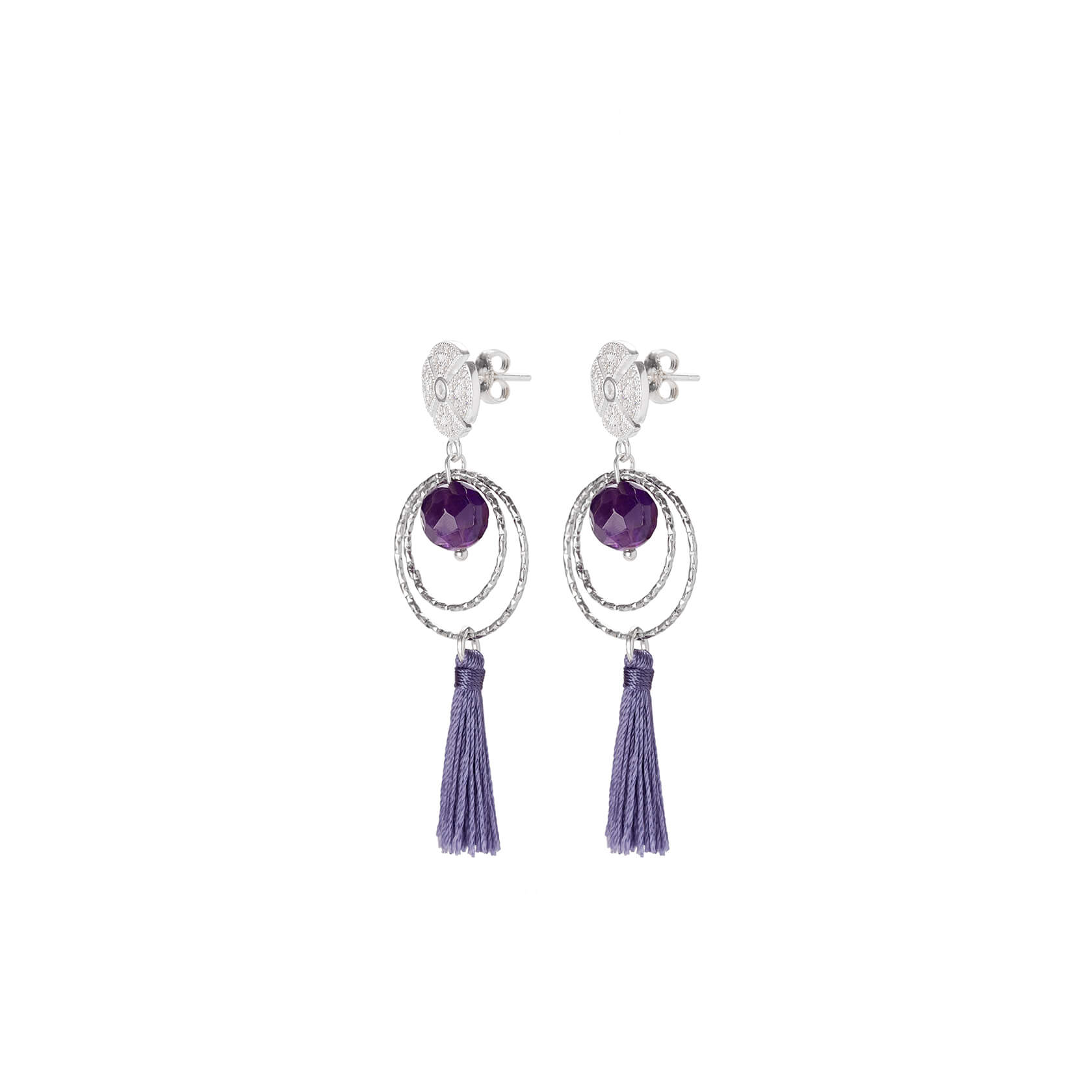 Amethyst earrings from Marybola