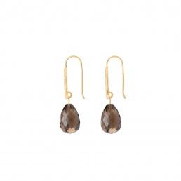 Esenciales smokey quartz earrings