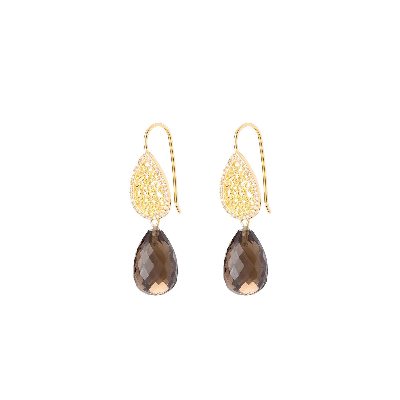 Smokey quartz earrings Marybola