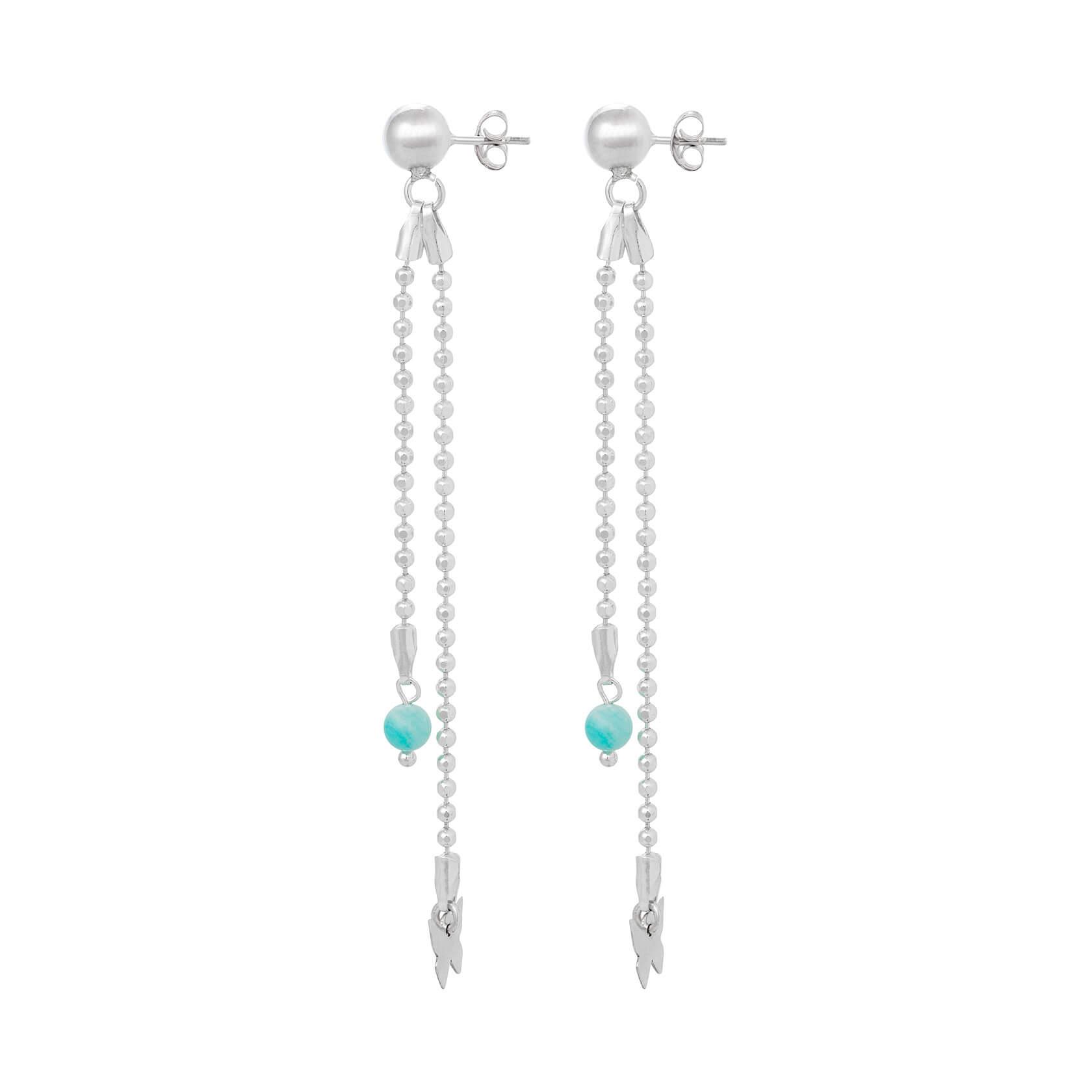 Amazonite long earrings Marybola