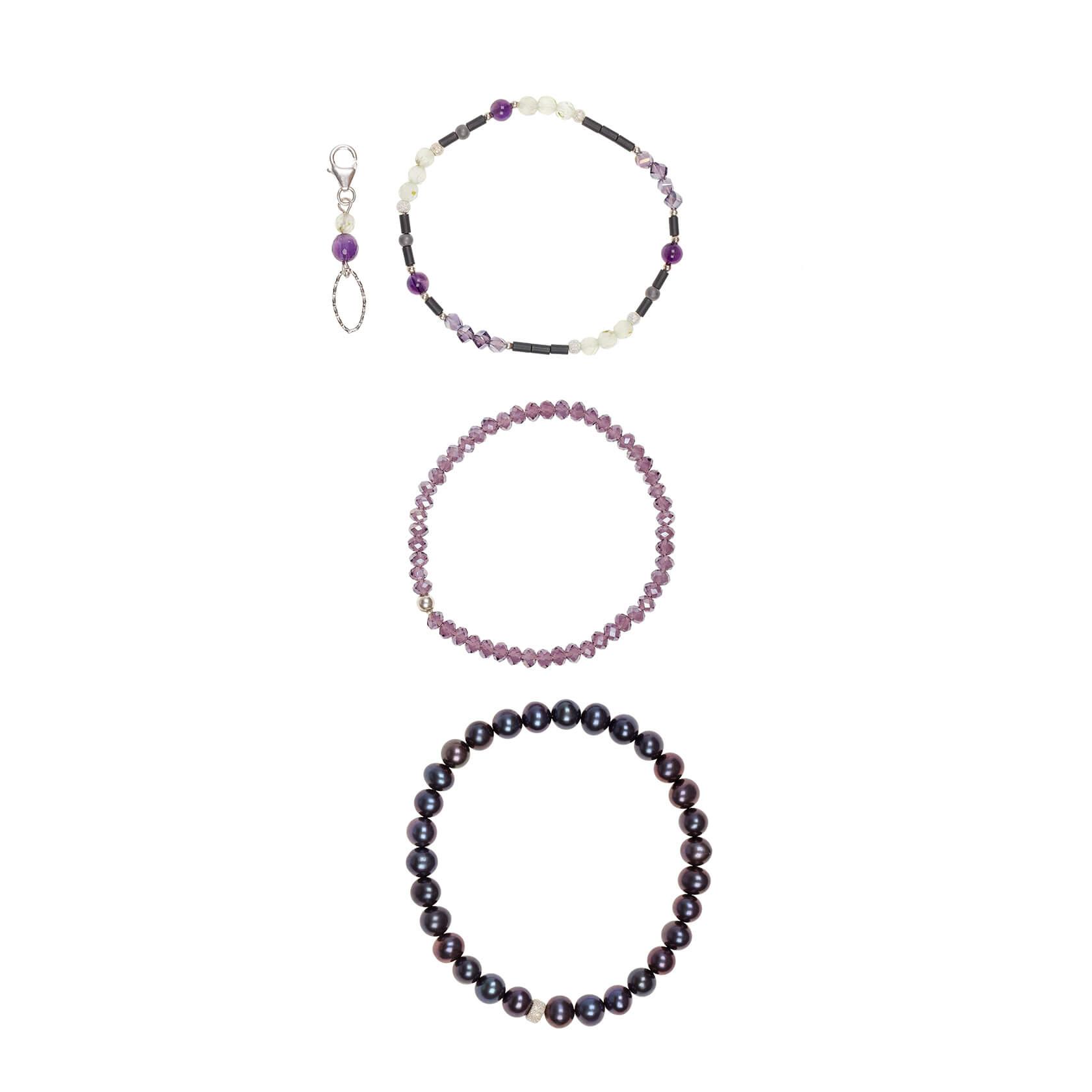 Prehnite and amethyst bracelet esenciales