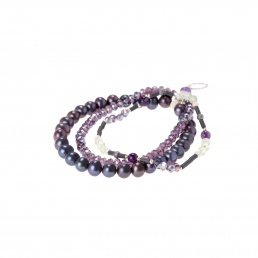 Prehnite and amethyst bracelet Marybola