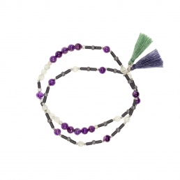 Pulsera doble de amatista