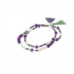 Amethyst double bracelet Marybola