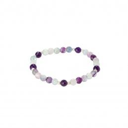 Fluorite elastic bracelet