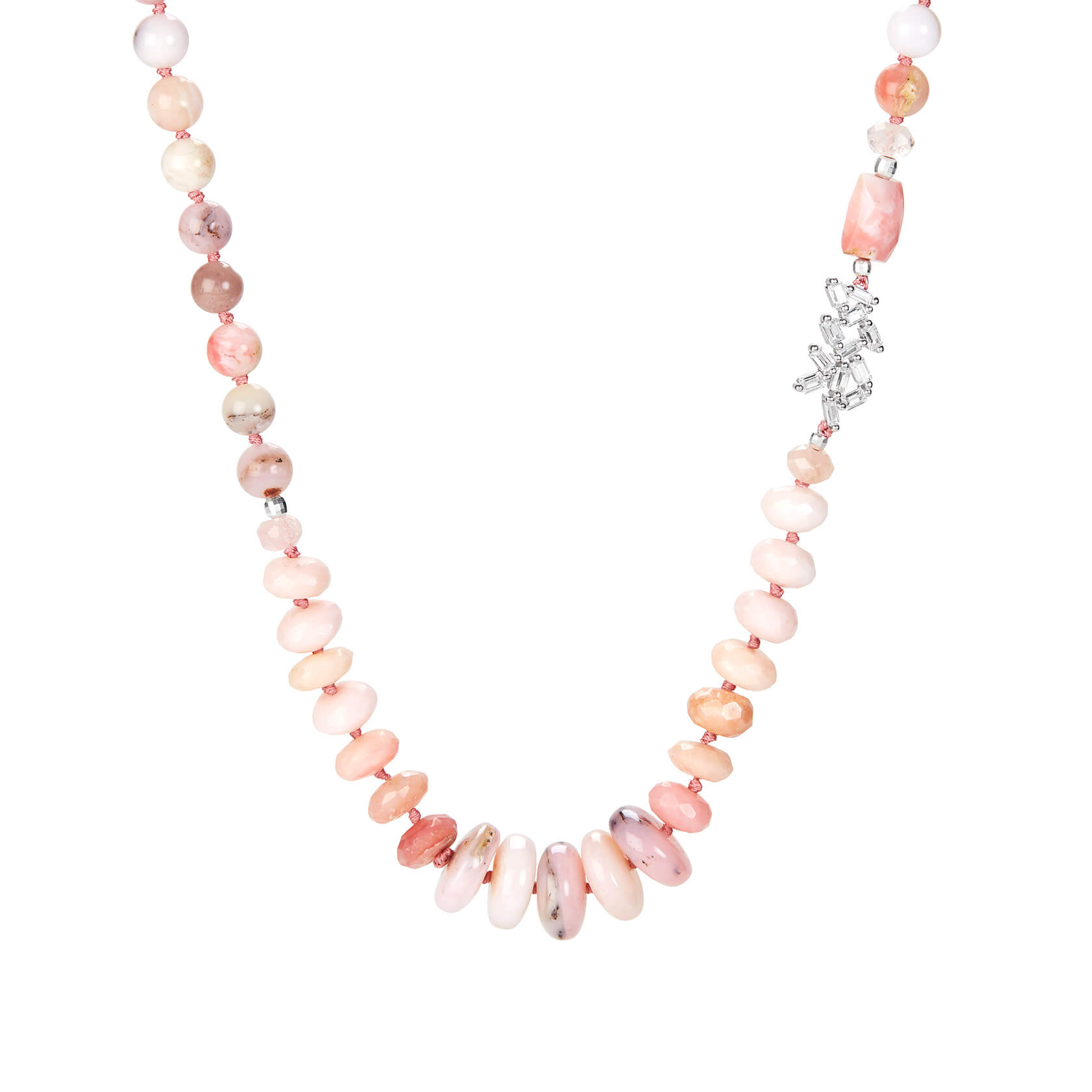 Rose opal necklace