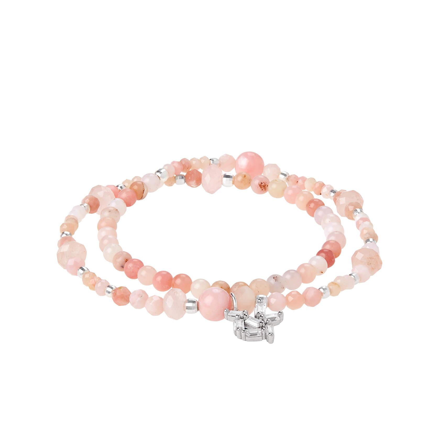 Rose opal double bracelet