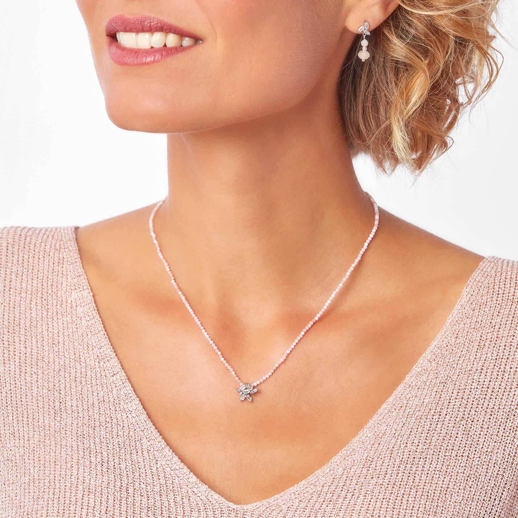 Rose opal short necklace marybola