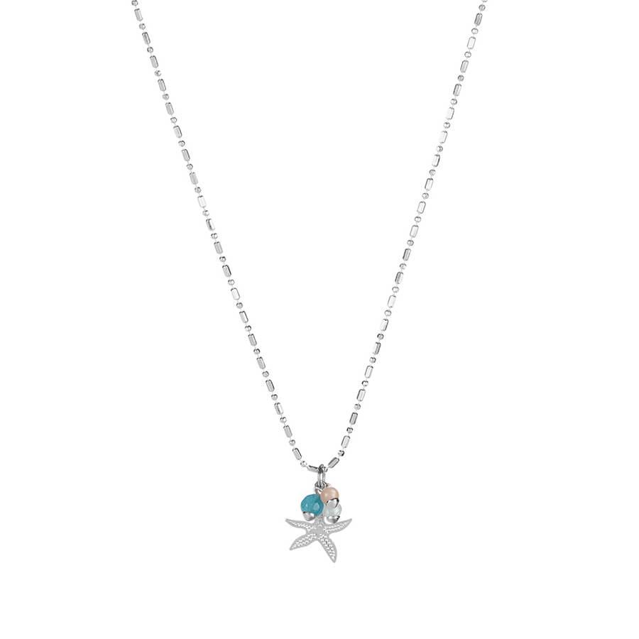 colgante con estrella de mar en plata