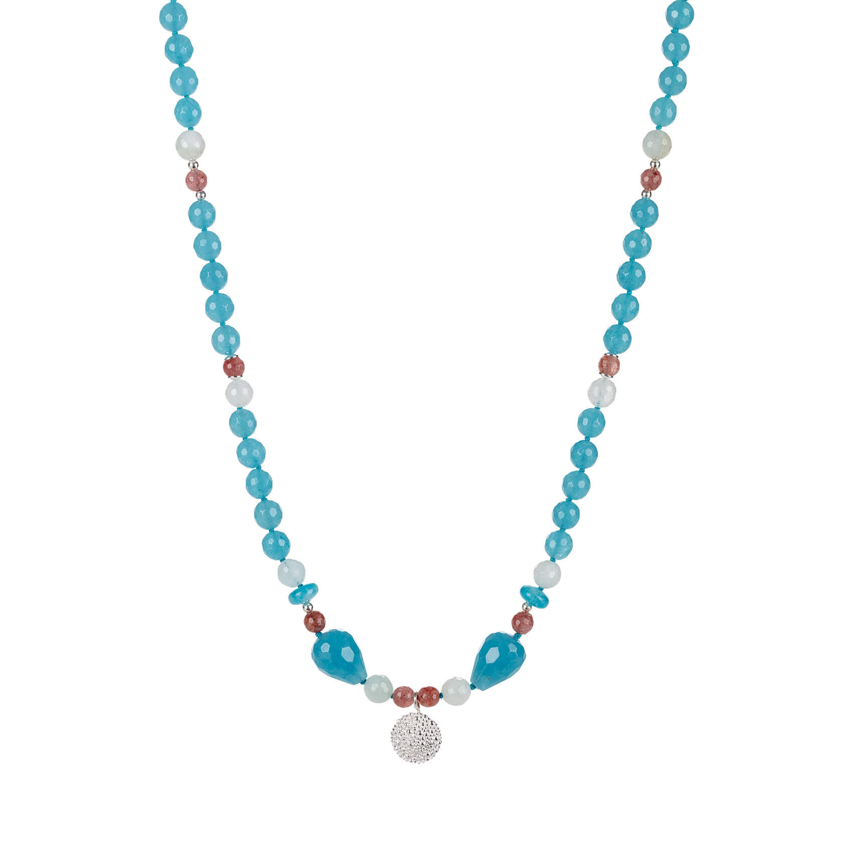 Angelite short necklace