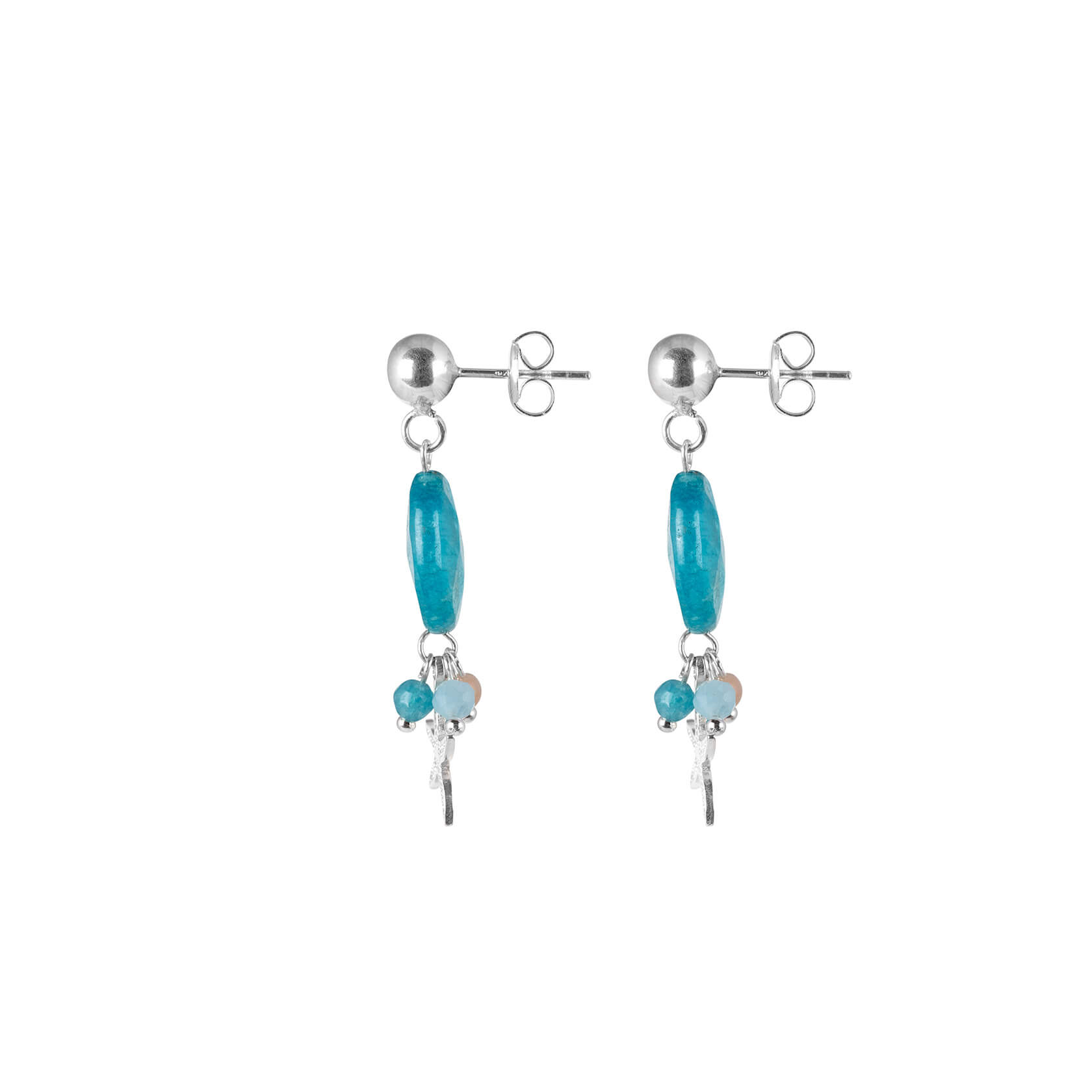 Blue quartz earrings with starfish marybola