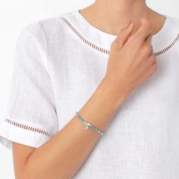 Starfish bracelet with blue angelite