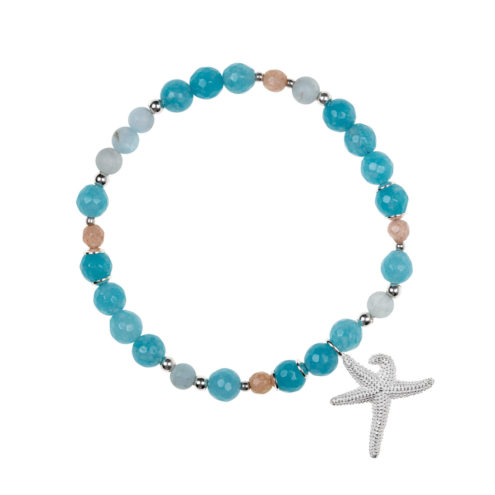 Starfish and angelite bracelet
