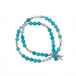 Angelite double bracelet